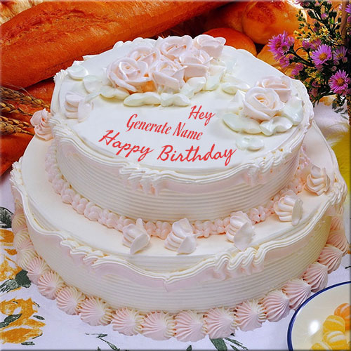 Generate Happy Birthday Cream Cake Picture With Name