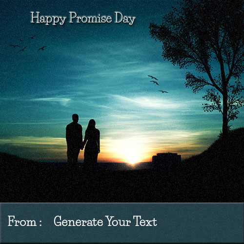 Create Happy Promise Day Best Wishes With Your Name