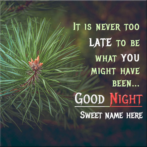 Create Good Night Wishes Picture With Your Name