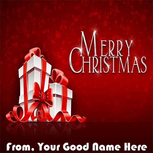 Happy Christmas Wishes Name Printed Pictures