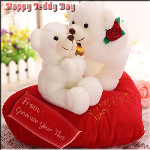 Create Beautiful Kissing Teddy Picture With Your Name