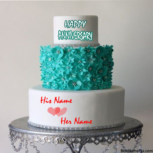 Write Your Name On Big Anniversary Cake Online