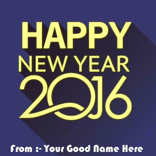 2016 Best Happy New Year Greeting Name Profile Pictures