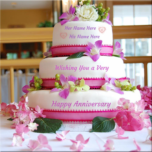 Wishing You Happy Anniversary Big Cake Name Pics