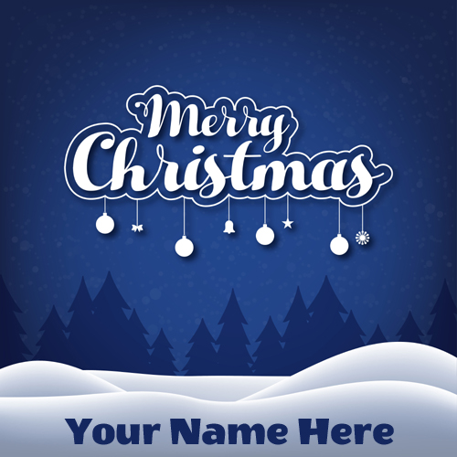 Beautiful Merry Christmas Whatsapp DP With Your Name