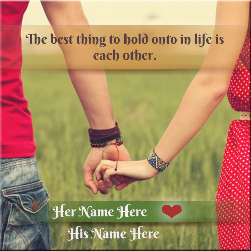 Write Name On Lovely Couple Picture Online