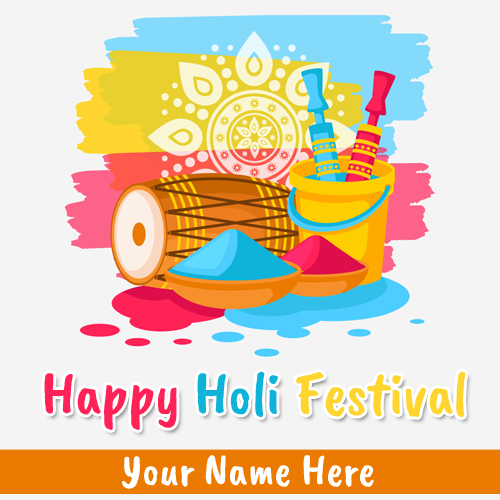 Happy Holi 2019 Whatsapp Greeting With Your Name
